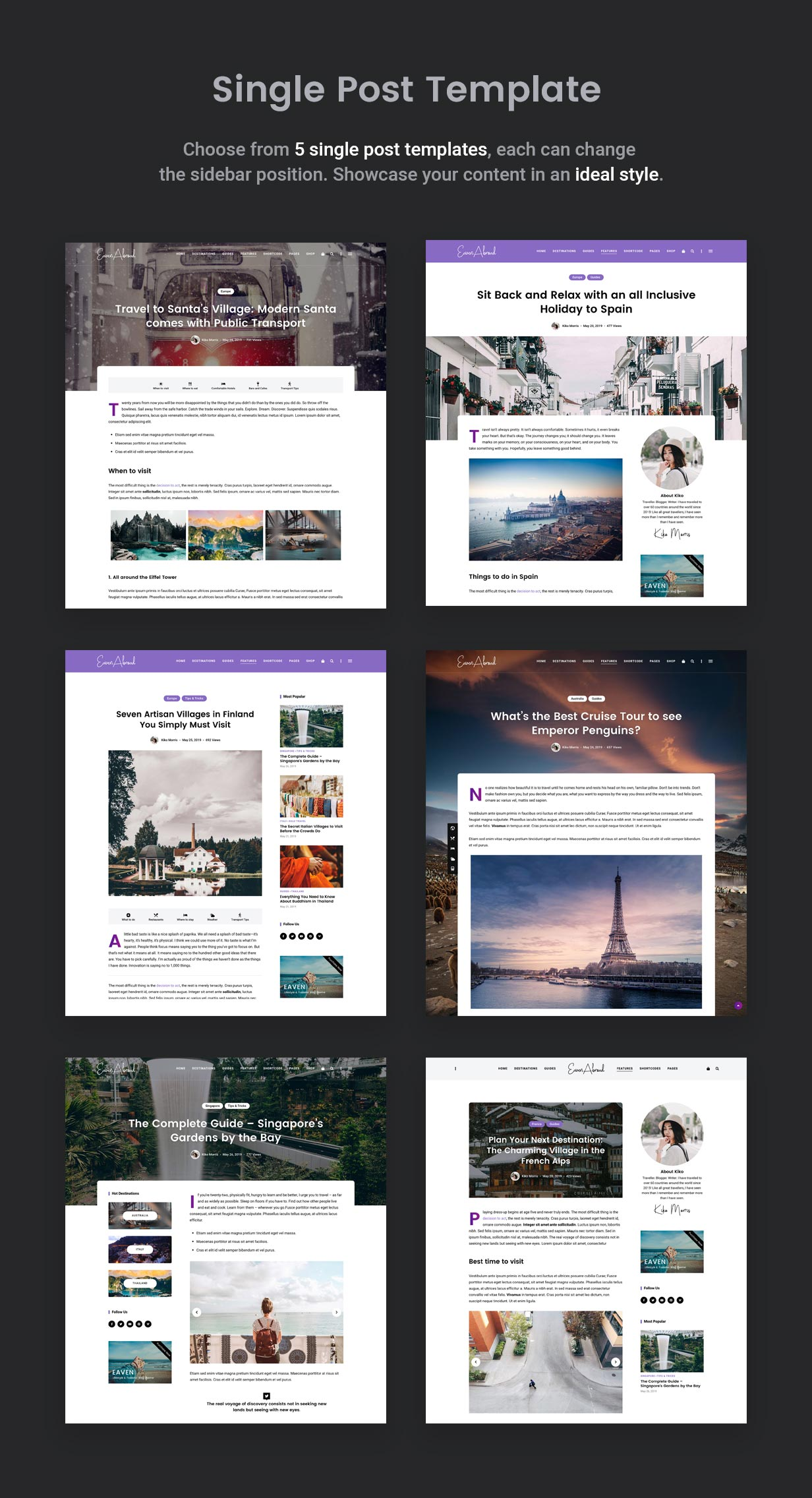 Single Post Layout Variations