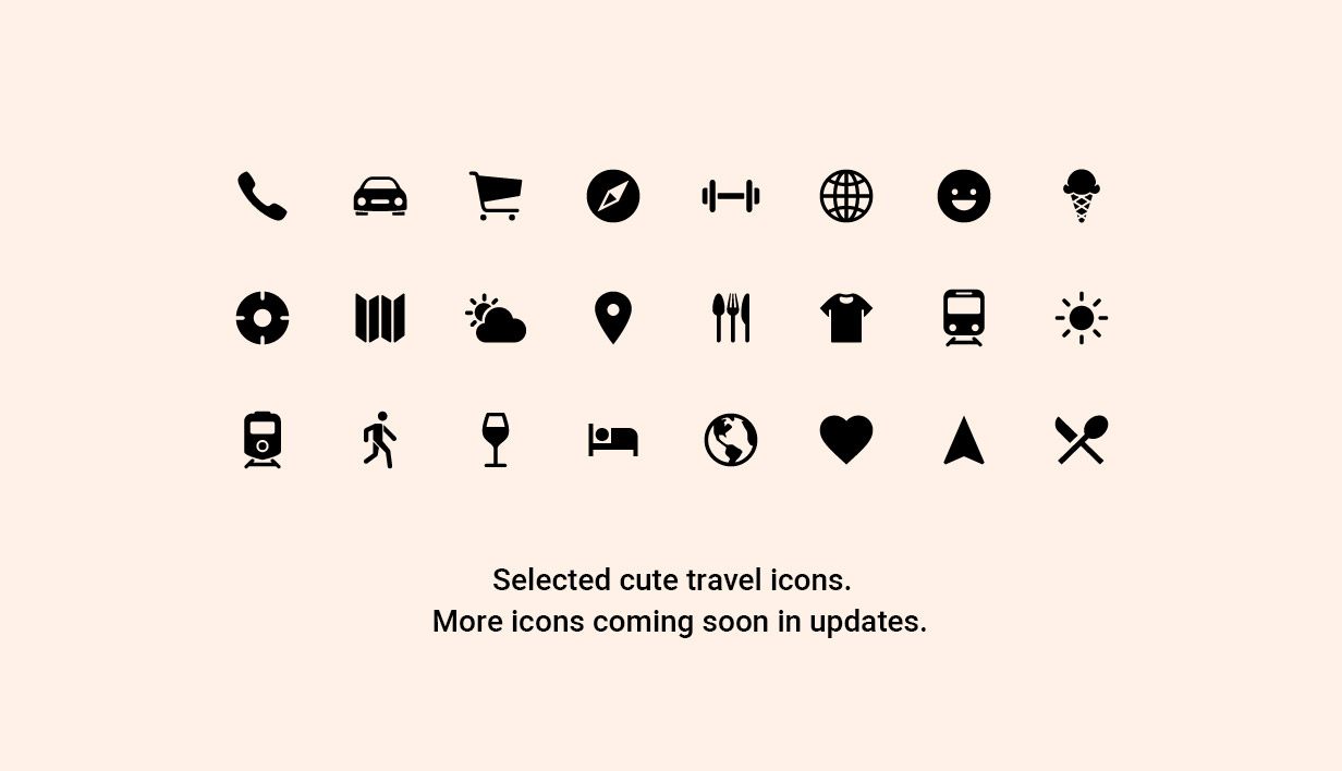 Content Navigation - Travel Icons