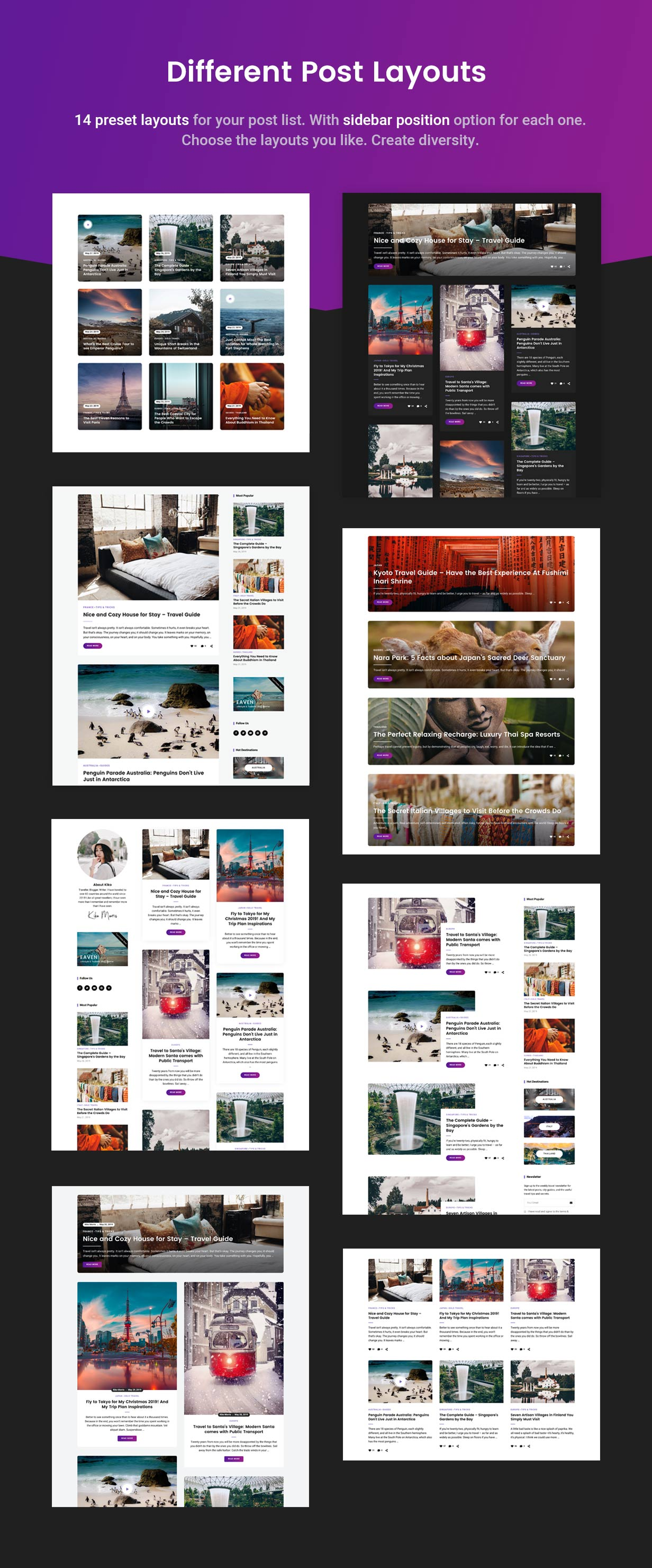 14 Posts Layout Variations