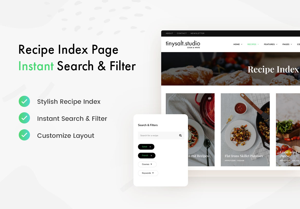 TinySalt - Recipe Index